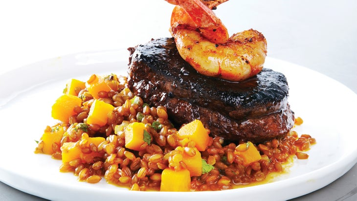 Spiced Beef Tenderloin with Shrimp