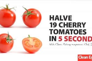 Halve 19 Cherry Tomatoes in 5 Seconds