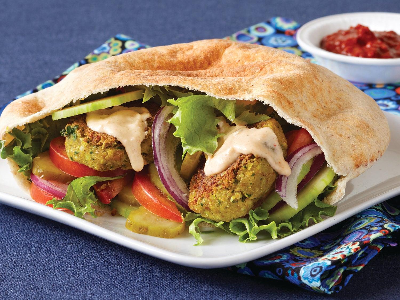Falafel Pita Sandwiches with Tahini Sauce | Clean Eating