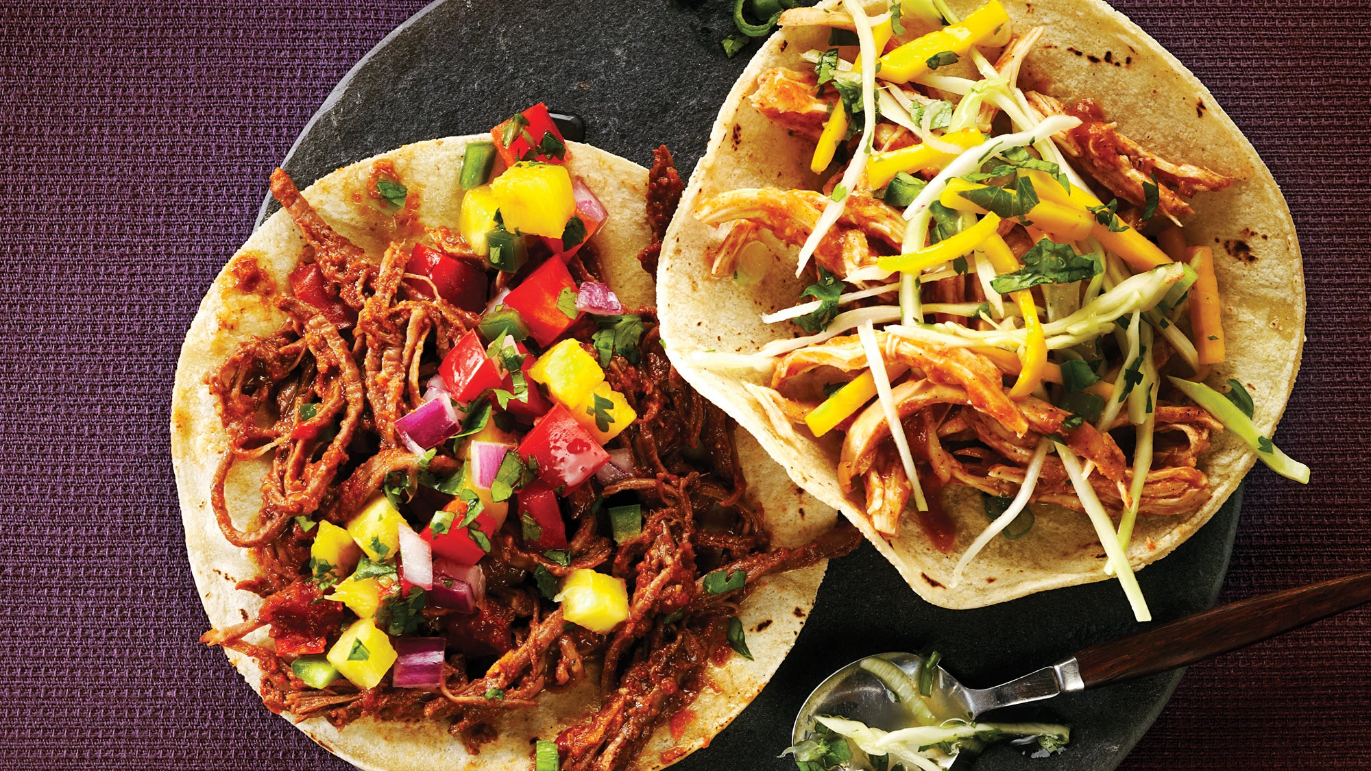 Sweet Spiced Pulled Chicken Tacos Recipe Slow Cooker Recipes