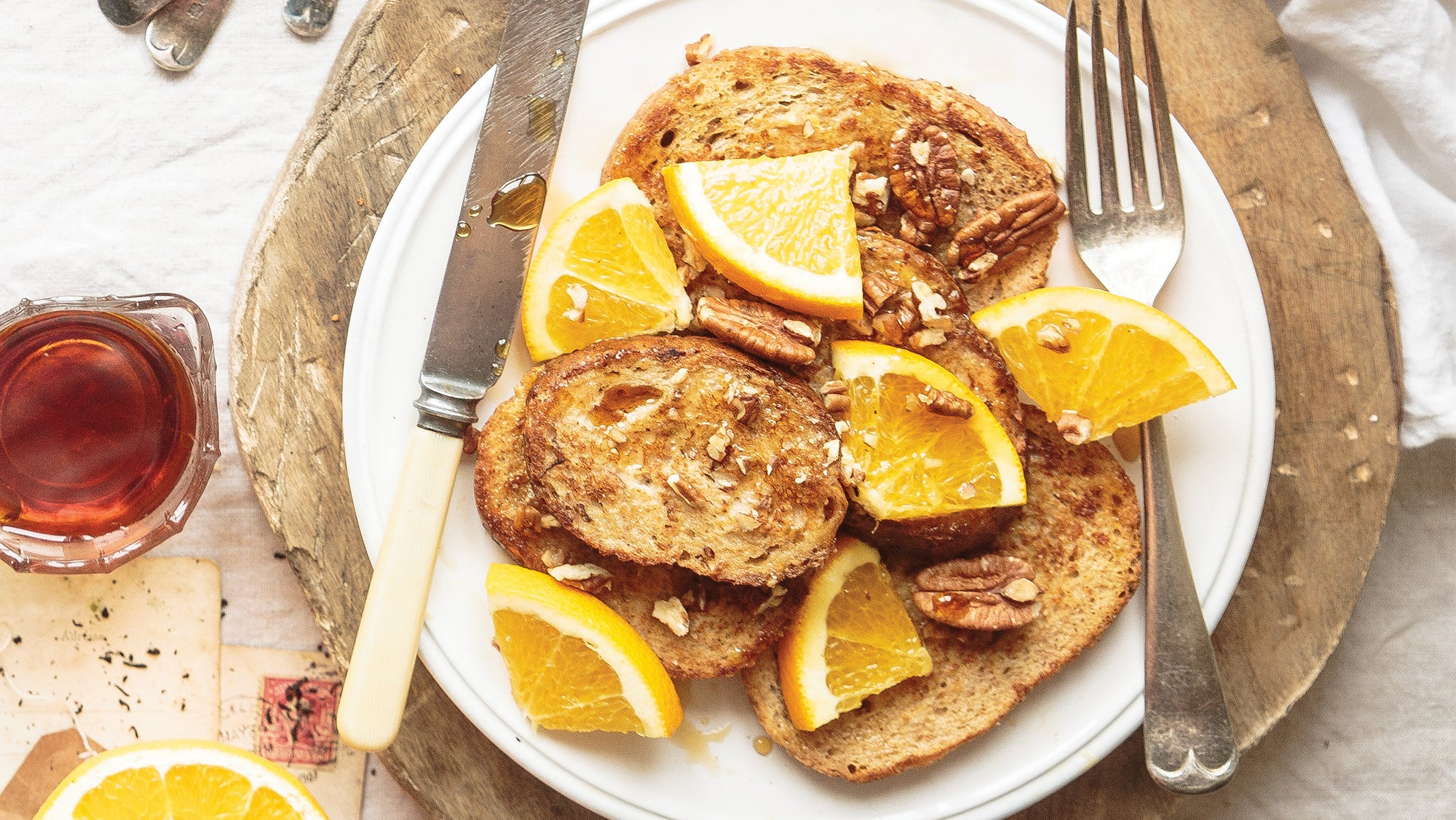 Earl Grey French Toast with Orange Maple Syrup