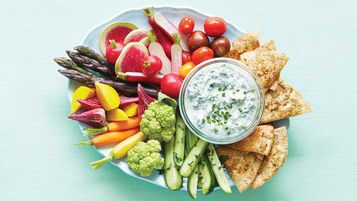 Creamy Kale Dip with Za'atar Pita Chips Recipe
