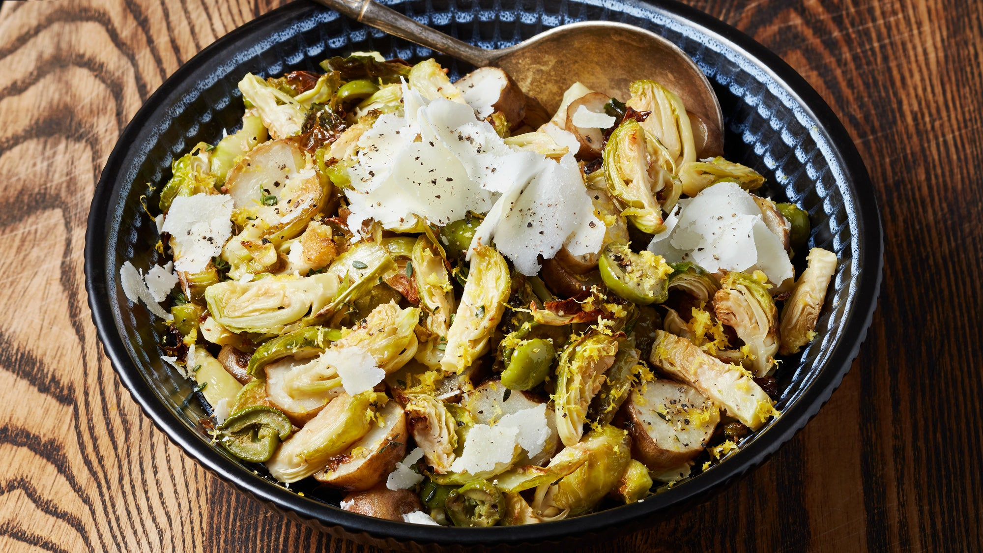 """""""Crispy Brussels Sprouts with Sunchokes"""