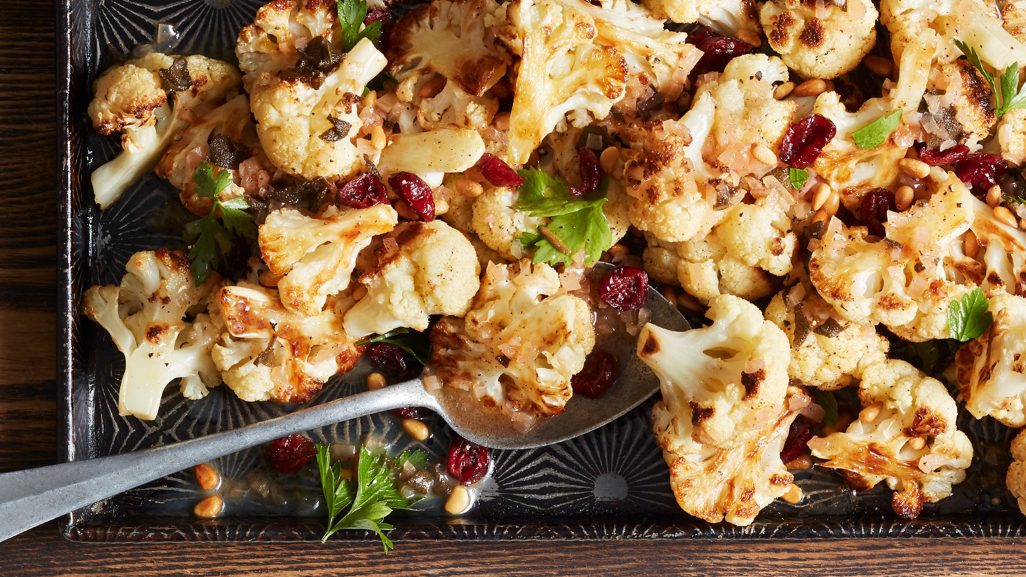 Roasted Cauliflower with Brown Butter Sage Vinaigrette