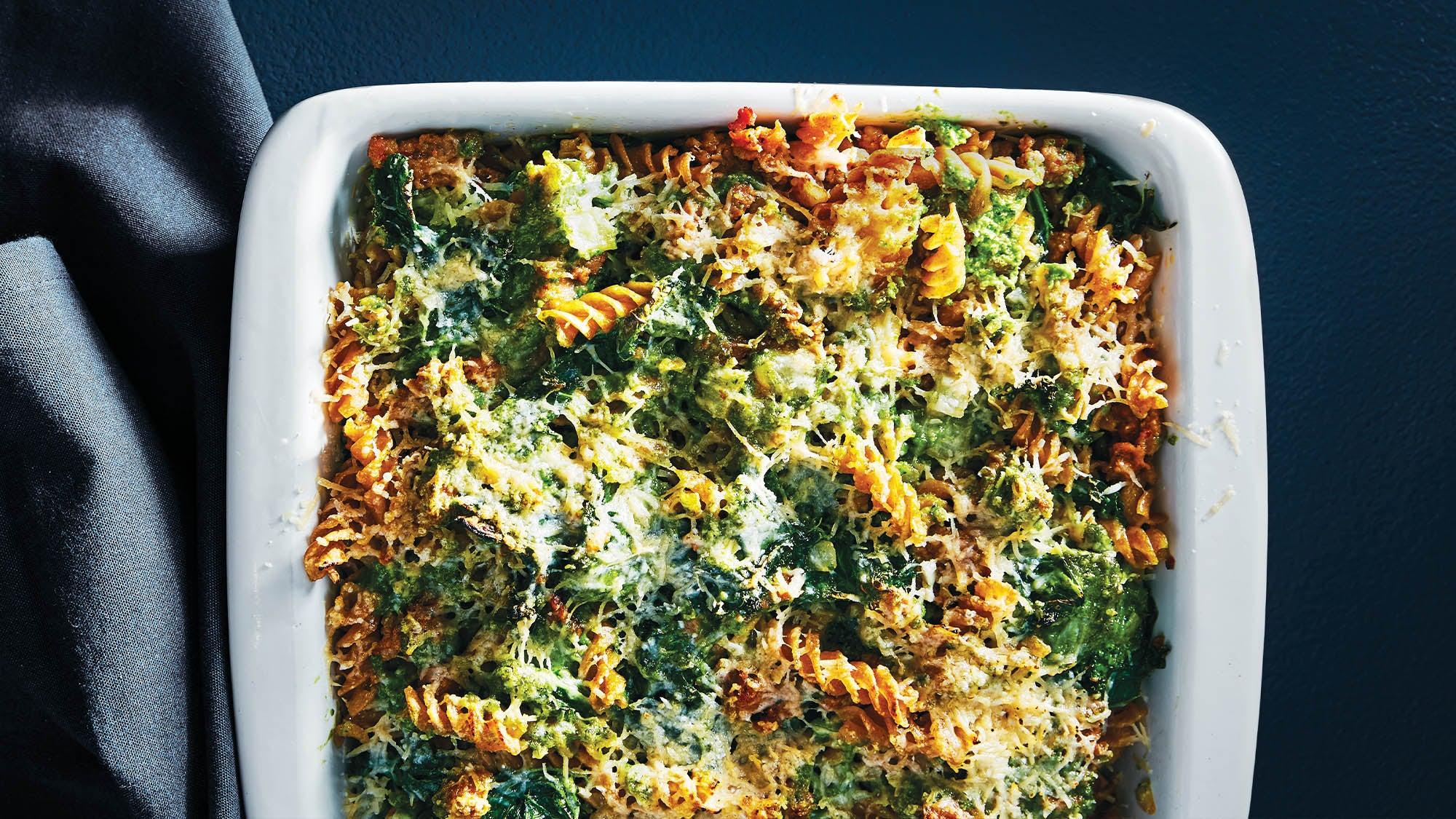 Kale and Sausage Fusili Bake recipe