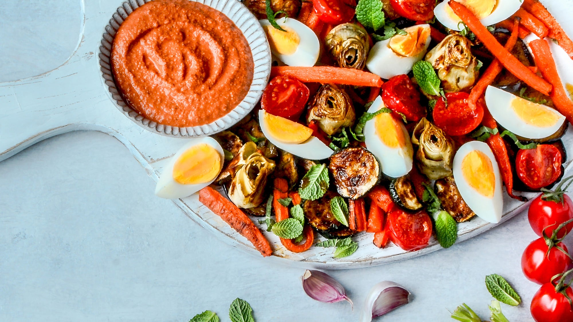 Middle Eastern Mezze Board with Muhammara recipe