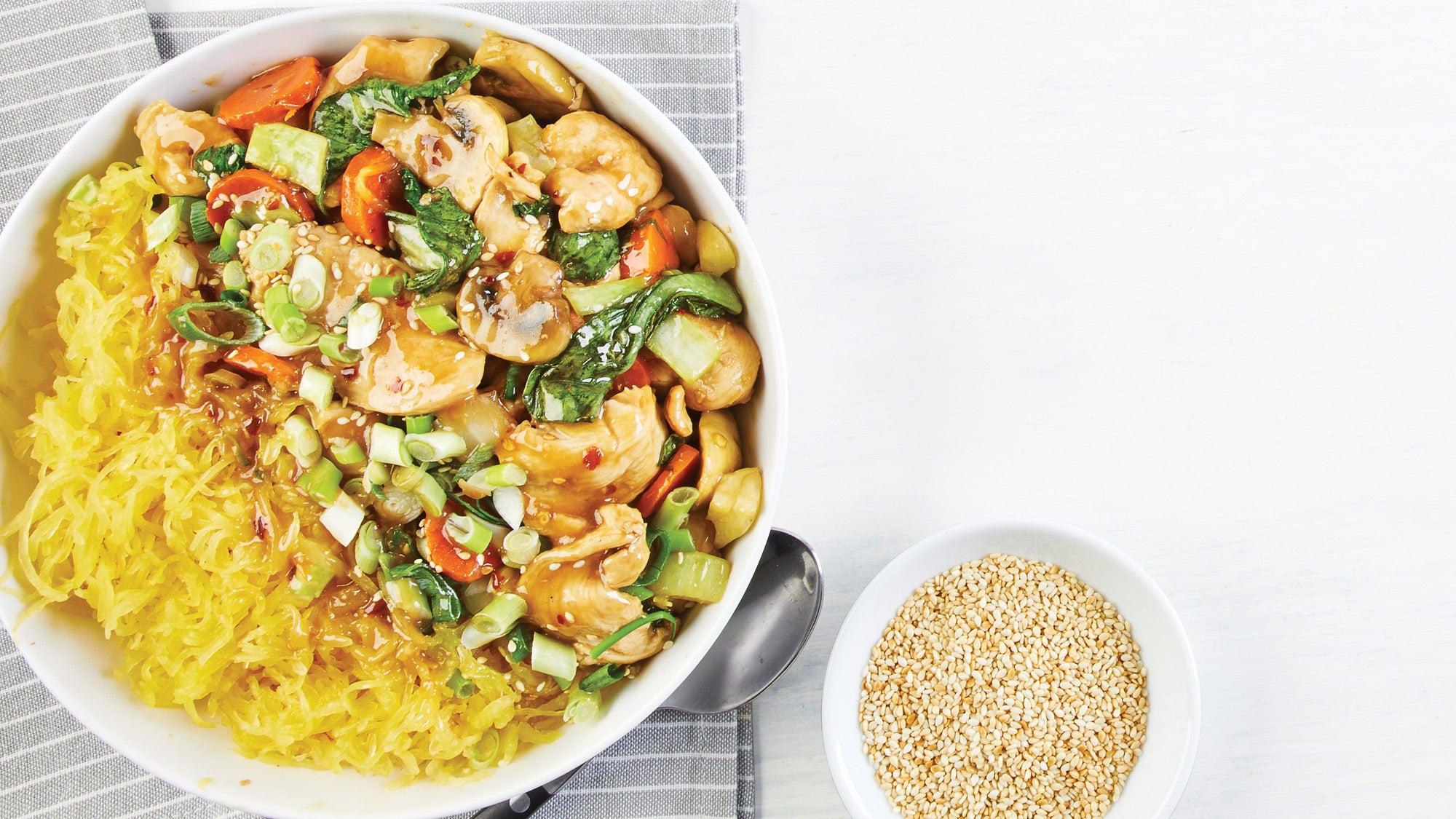 Ginger Chicken Stir-Fry with Spaghetti Squash recipe