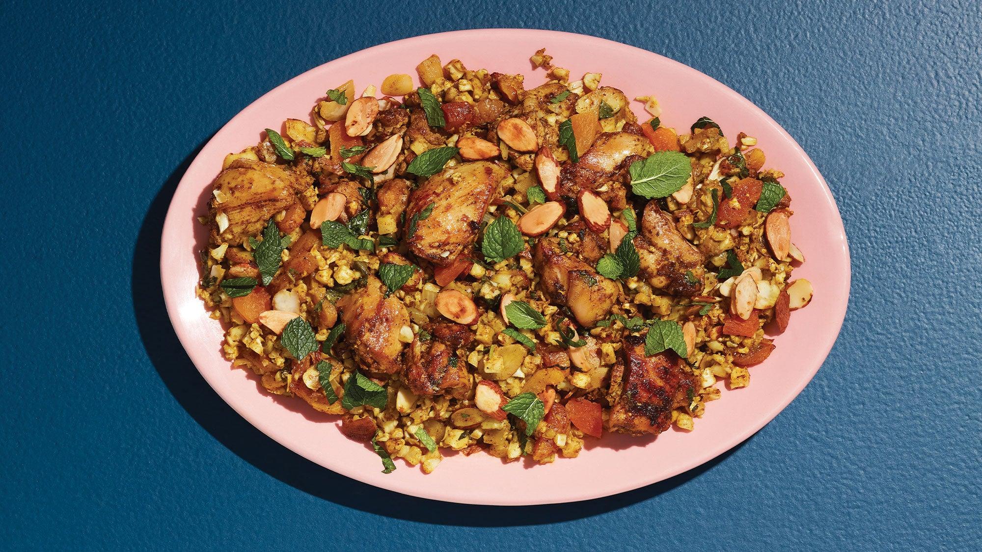 Biryani-Style Chicken & Cauliflower Rice Bake recipe