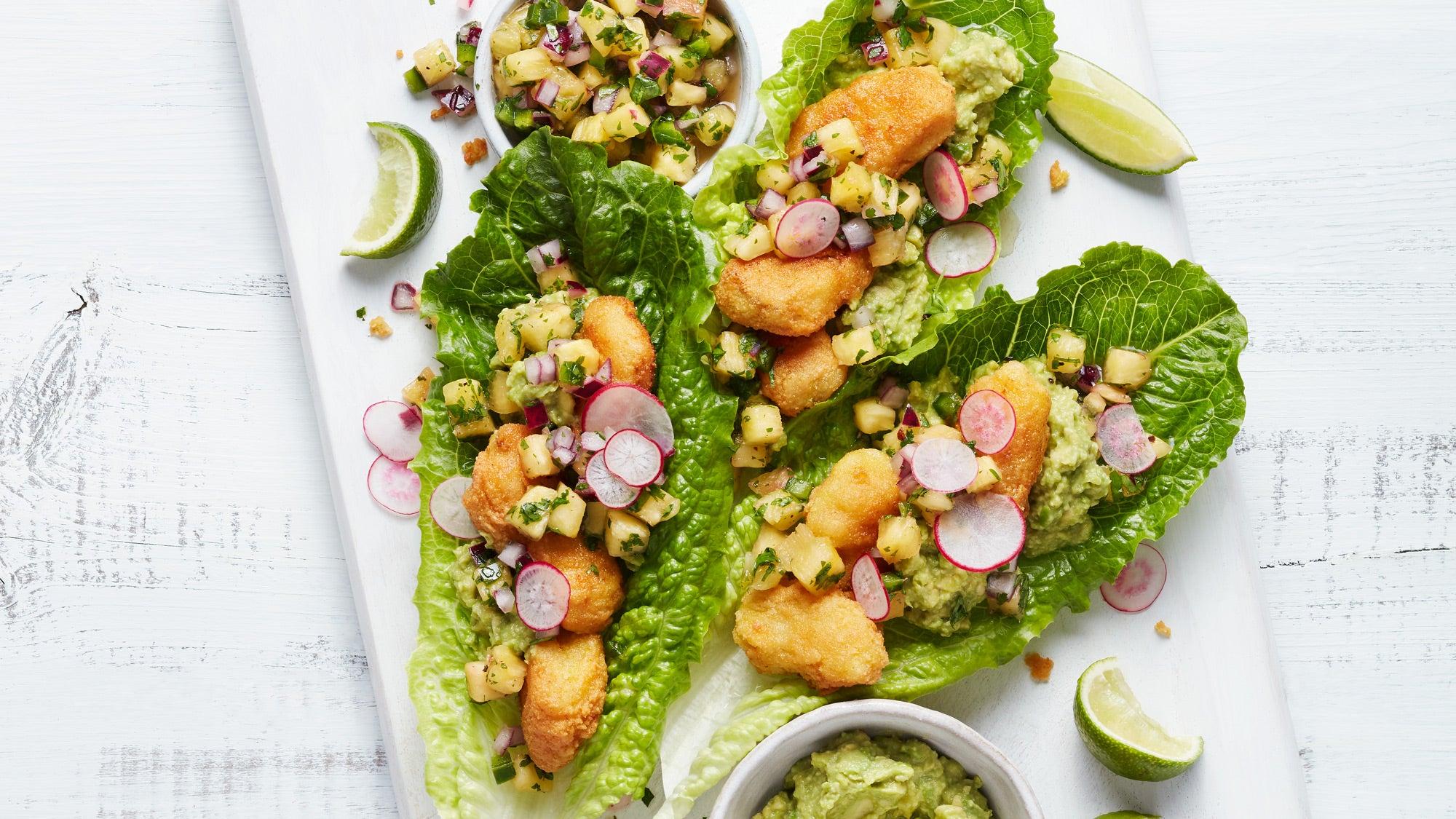 Fish Taco Lettuce Wraps recipe