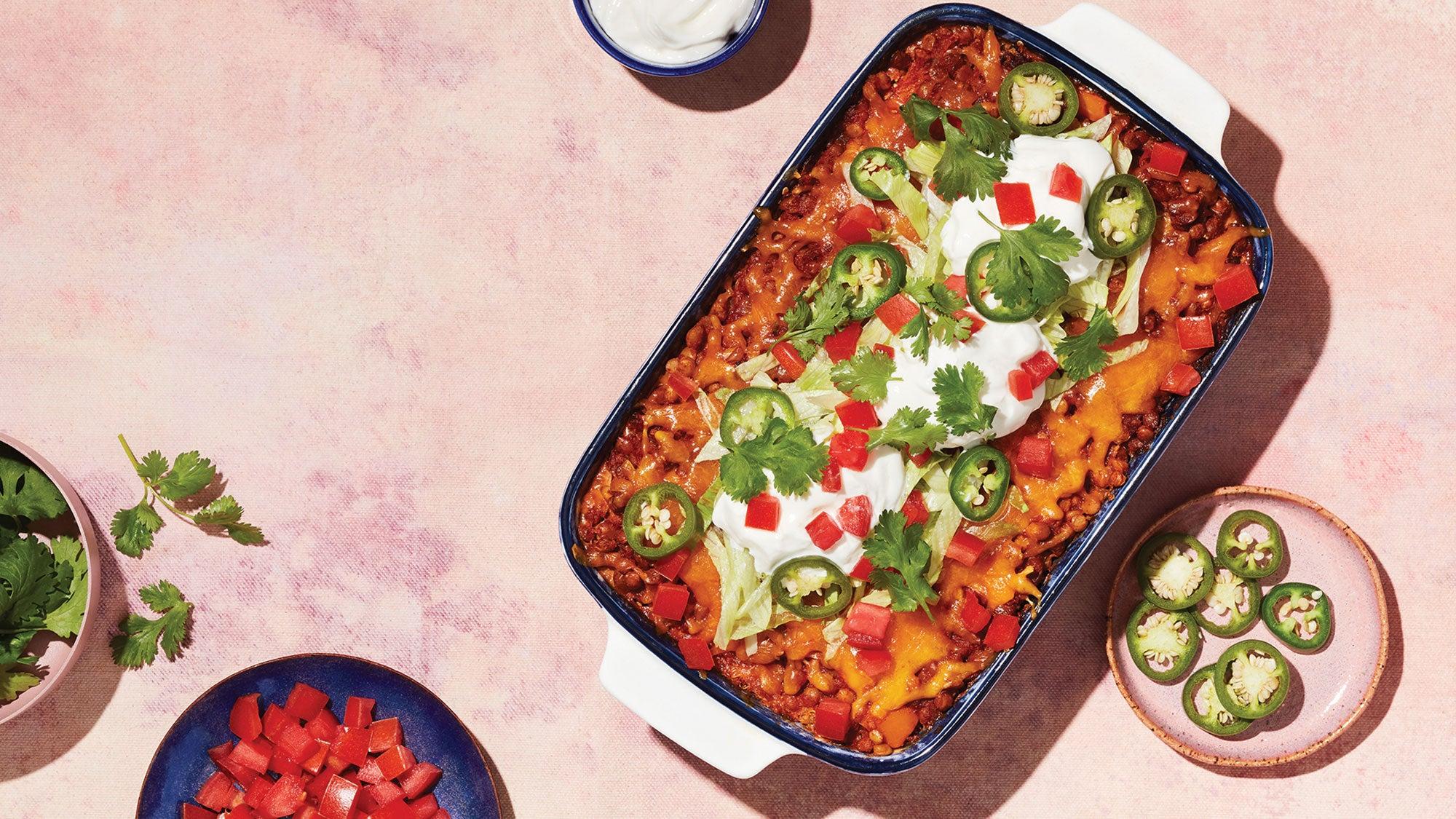 Lentil Quinoa Taco Pie recipe