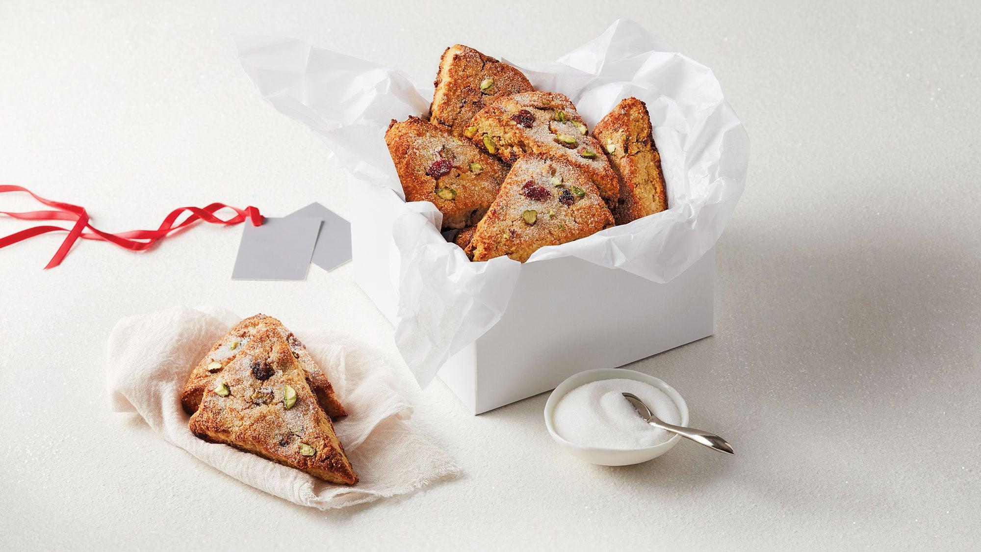 Grain-Free Pistachio & Cranberry Scones recipe