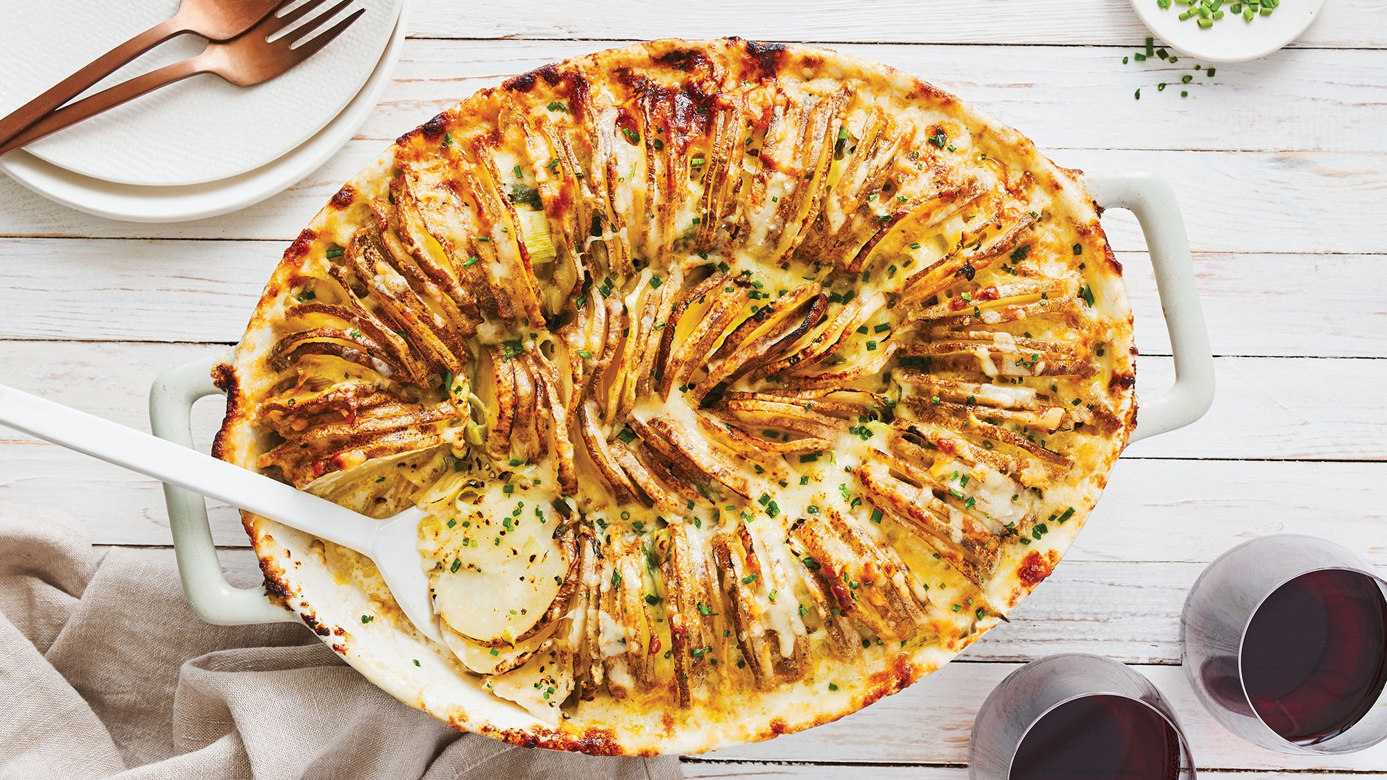 Potato, Leek & Artichoke Sideways Gratin recipe