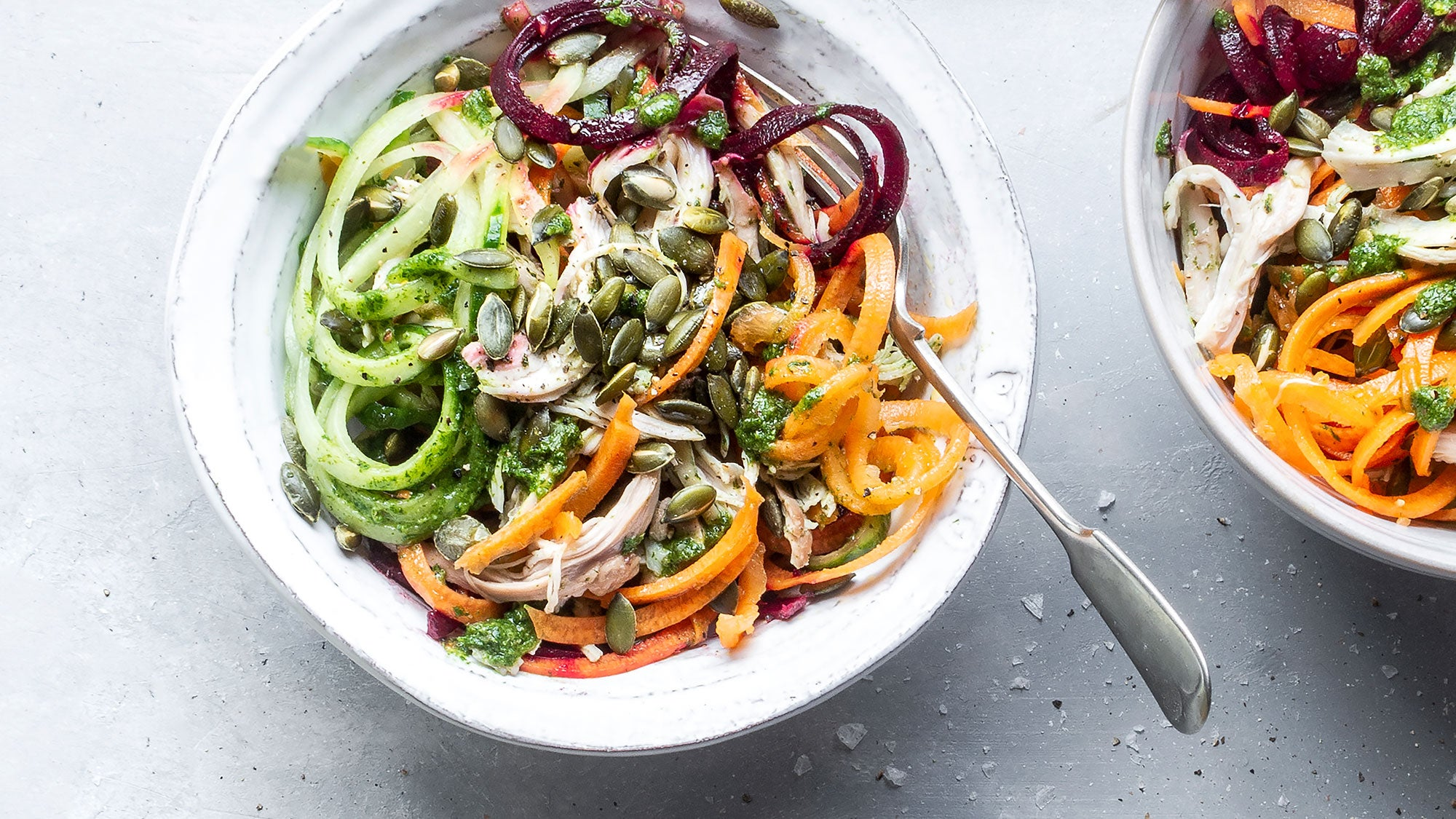 Rainbow Vegetable Salad with Chicken recipe