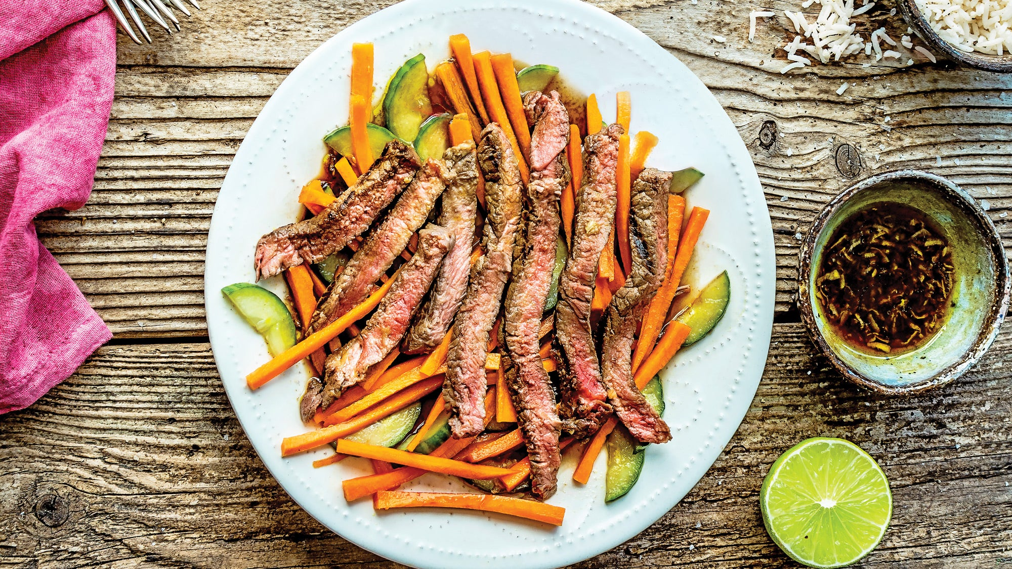 Vietnamese Banh Mi–Style Steak with Pickled Vegetables recipe