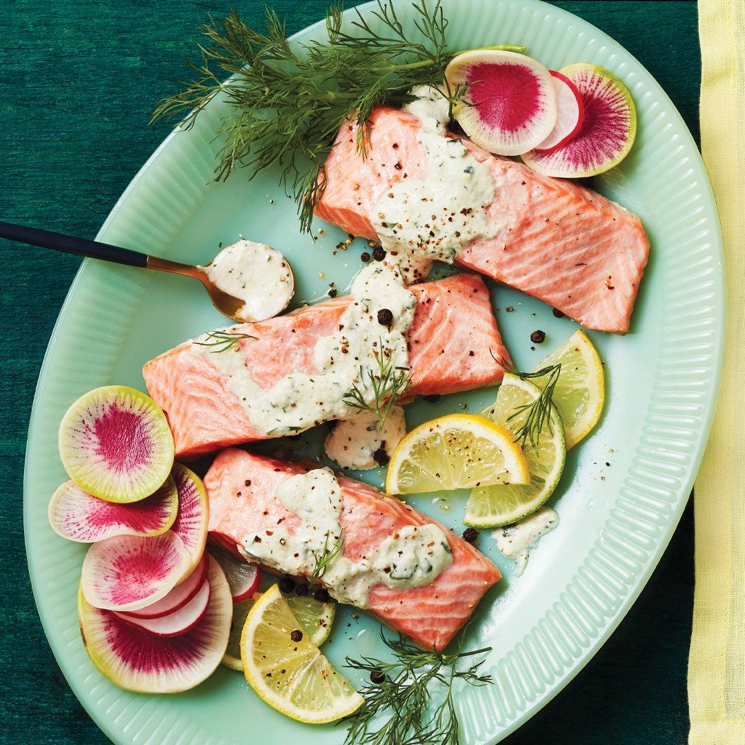 Citrus Poached Salmon