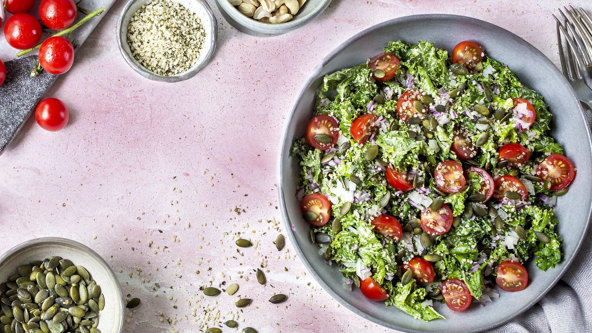 Caesar-ish kale salad