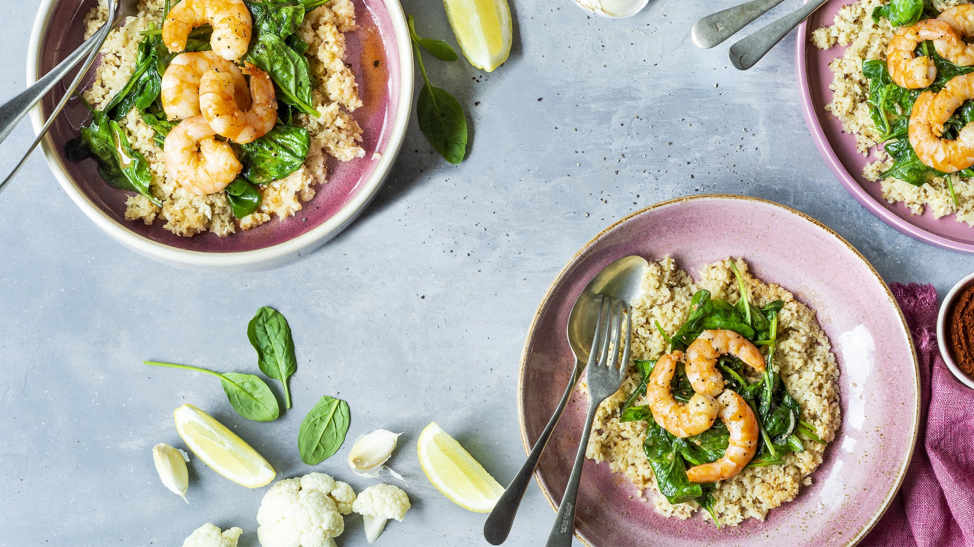 Grits-gone-keto with shrimp