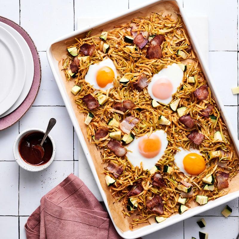 Keto sheet pan breakfast